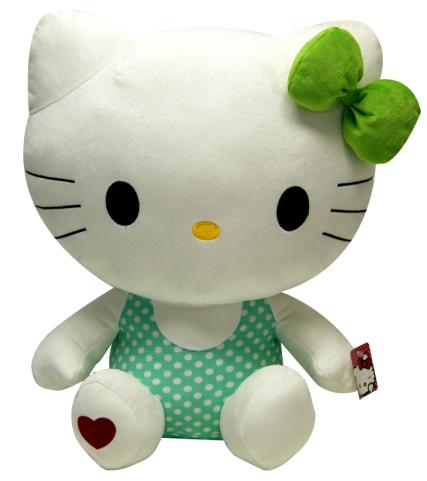 Pelúcia Hello Kitty Verde: Colorful - 20cm