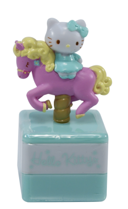 Carimbo Hello Kitty Verde: Carousel