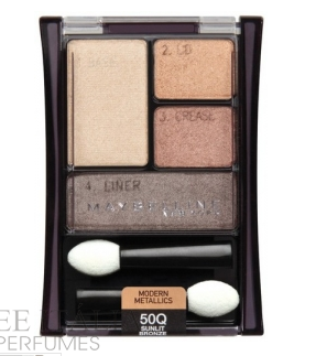 Sombra Expert Wear Quad Sombras 50 Sunlit Bronz Maybelline - Sunlit Bronz
