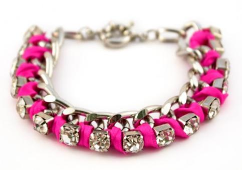 Pulseira Chain Rosa Neon