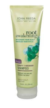 Shampoo Root Awakening Purify + Nourish (Raízes Oleosas e Pontas Secas) Unissex 250ml John Frieda