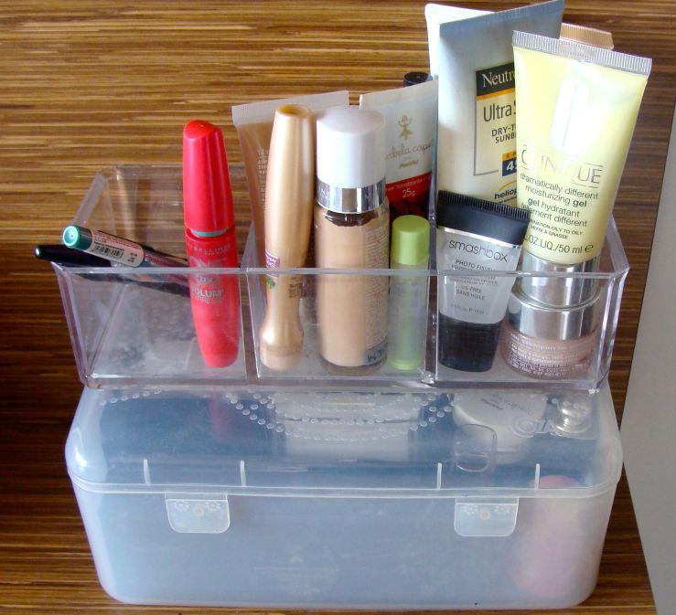 organização da maquiagem