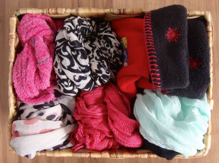 cesto lenço