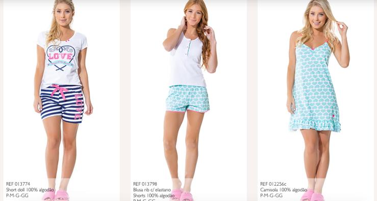 Mensageiro dos sonhos pijamas verão 2016