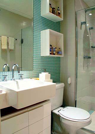 banheiro pequeno nichos