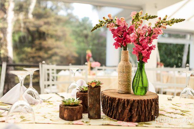 tronco decoração casamento