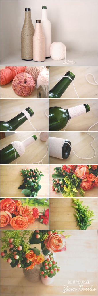 garrafa decoração diy